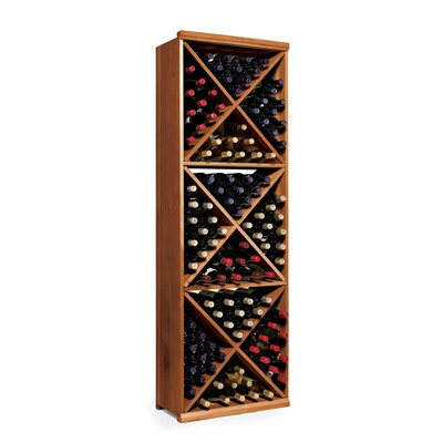 Nfinity 132 Bottle Floor Wine Rack Finish: Dark Walnut