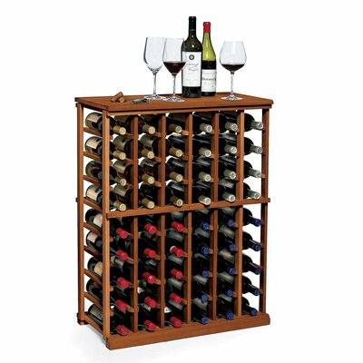 Nfinity 54 Bottle Floor Wine Rack Finish: Dark Walnut