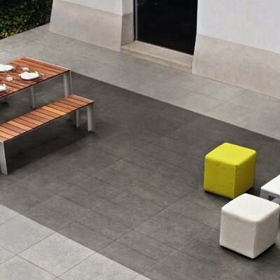 Basaltina Stone Project 23.25 x 23.25 Porcelain Field Tile in Sabbiata