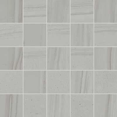 Travel 12 x 12 Porcelain Mosaic Tile in Polar White