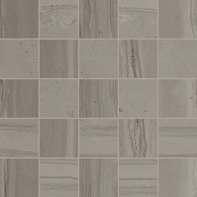 Travel Desert Rope 12 x 12 Porcelain Mosaic Tile in Gray