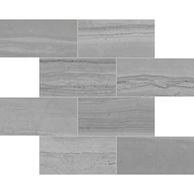Travel Indian Ash 12 x 12 Porcelain Mosaic Tile in Gray