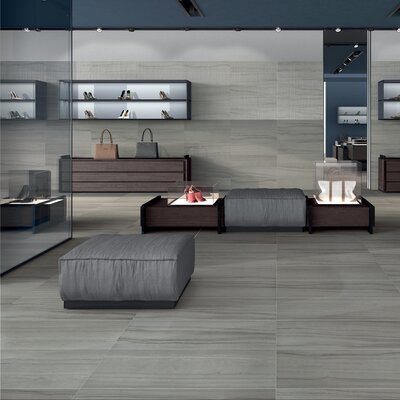 Travel Indian Ash 18 x 36 Porcelain Wood Look Tile in Gray