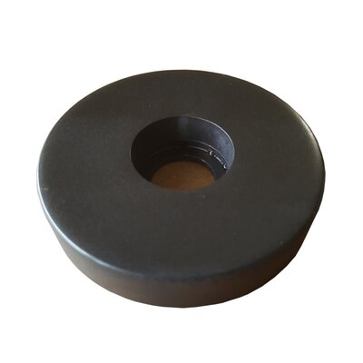 Jewel Accessory Series Solid Brass Faucet Base Plate for Three Hole Application Finish: Matte Black