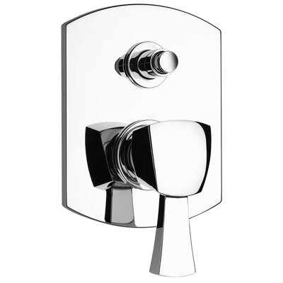 J11 Bath Series Pressure Balanced Valve Body with Diverter and Trim Finish: Polished Chrome