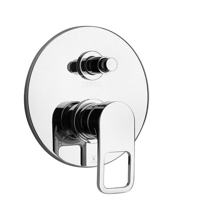 J10 Bath Series Pressure Balanced Valve Body with Diverter and Trim Finish: Polished Chrome