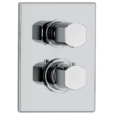 J12 Bath Series Thermostatic Valve Body with Diverter and Trim Finish: Polished Chrome