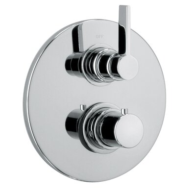 J14 Bath Series Thermostatic Valve Body with Diverter and Trim Finish: Polished Chrome