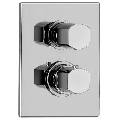 J15 Bath Series Thermostatic Valve Body with Diverter and Trim Finish: Polished Chrome