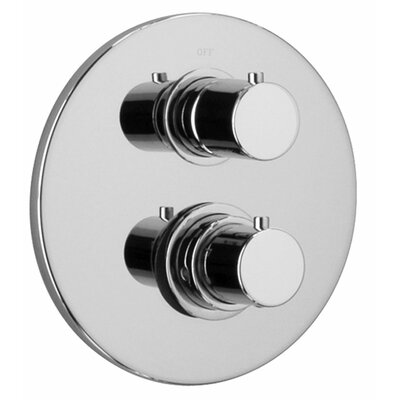 J16 Bath Series Thermostatic Valve Body with Diverter and Trim Finish: Polished Chrome