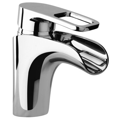 J10 Bath Series Single Loop Handle Bathroom Faucet with Waterfall Spout Finish: Polished Chrome