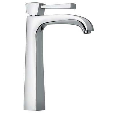 J11 Bath Series Single Lever Handle Tall Vessel Sink Faucet with Arched Spout Finish: Polished Chrome