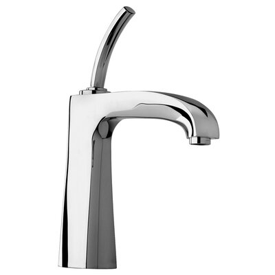 J11 Bath Series Single Joystick Handle Bathroom Faucet with Arched Spout Finish: Polished Chrome