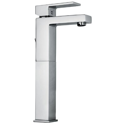 J12 Bath Series Single Lever Handle Tall Vessel Sink Faucet with Linear Matched Spout Finish: Polished Chrome