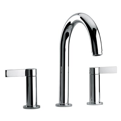 J14 Bath Series Two Lever Handle Roman Tub Faucet with Classic Spout Finish: Polished Chrome