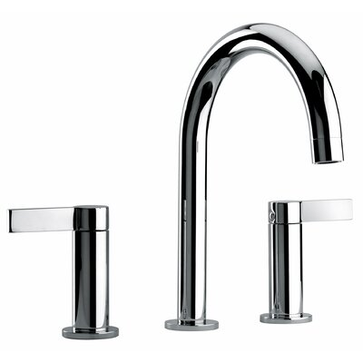 J14 Bath Series Two Lever Handle Widespread Bathroom Faucet with Classic Spout Finish: Polished Chrome