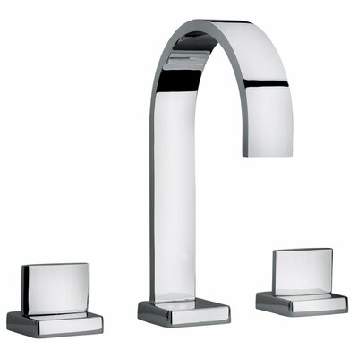 J15 Bath Series Two Lever Handle Roman Tub Faucet with Classic Ribbon Spout Finish: Polished Chrome