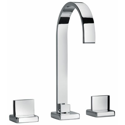 J15 Bath Series Two Lever Handle Widespread Bathroom Faucet with Classic Ribbon Spout Finish: Polished Chrome