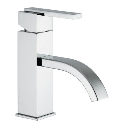 J15 Bath Series Single Lever Handle Bathroom Faucet with Classic Ribbon Spout Finish: Polished Chrome