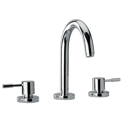 J16 Bath Series Two Lever Handle Roman Tub Faucet with Goose Neck Spout Finish: Polished Chrome