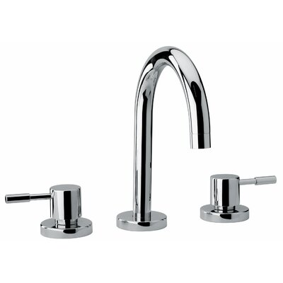 J16 Bath Series Widespread Double Handle Bathroom Faucet with Drain Assembly Finish: Polished Chrome