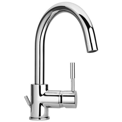 J16 Bath Series Single Lever Handle Bathroom Faucet with Goose Neck Spout Finish: Polished Chrome