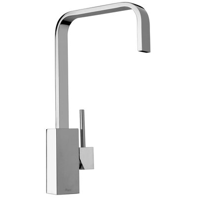 J25 Kitchen Series Single Hole Kitchen Faucet with Swivel Ribbon Spout Finish: Polished Chrome