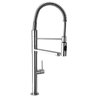 J25 Kitchen Series Commercial Kitchen Faucet with Swivel Spout and Commercial Sprayer Finish: Polished Chrome