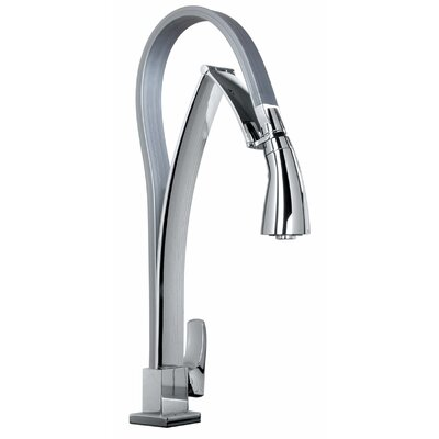 J25 Kitchen Series Single Hole Kitchen Faucet with Dual Function Pull Out Spout Finish: Polished Chrome