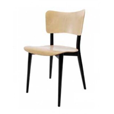 Max Bill Side Chair Finish: Beech Seat / Back; Black Legs