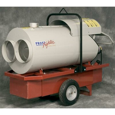 "Frost Fighter 210,000 BTU Oil-Filled Utility Propane or Natural Gas Space Heater -Outlet:Dual Outlet 12"", Add Duct Hose:Duct Hose 12"" Diameter at Sears.com"