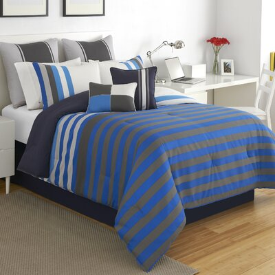 Regatta Stripe Comforter Set Size: Full