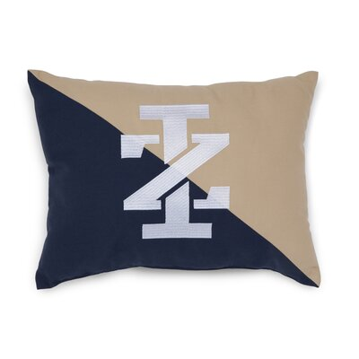 Classic Stripe IZ Logo Embroidered Throw Pillow