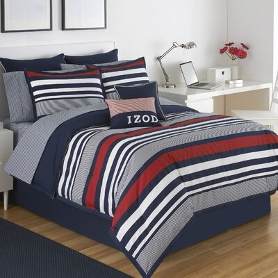 Varsity Stripe Comforter Set Size: Full
