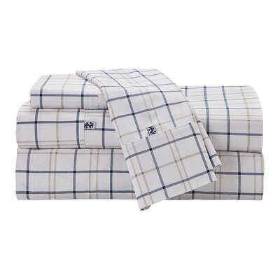 Windowpane Plaid Sheet Set Size: California King