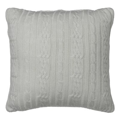 Cable Knit Decorative Throw Pillow Color: Silver Birch