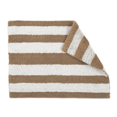 Florencia Reversible Stripe Bath Rug Color: Cornstalk