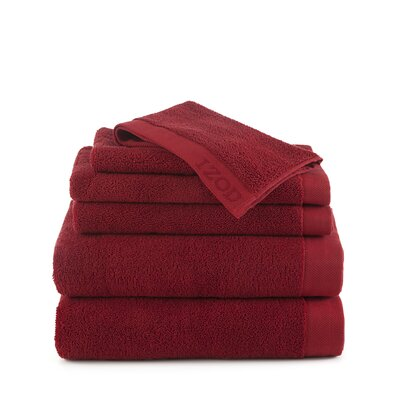 Classic 6 Piece Towel Set Color: Pompei Red