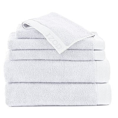 Classic 6 Piece Towel Set Color: Optical White