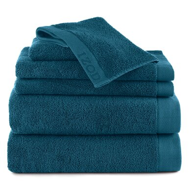 Classic 6 Piece Towel Set Color: New Pool