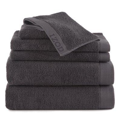 Leeanna  6 Piece Towel Set Color: Night Gray