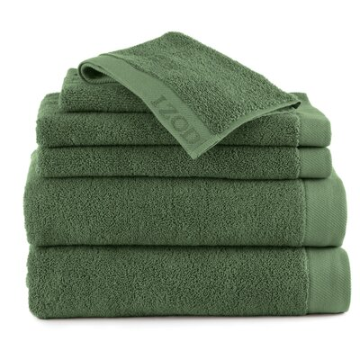 Classic 6 Piece Towel Set Color: Stone Green