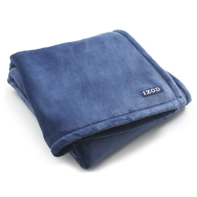 Brandon Plush Throw Color: Indigo