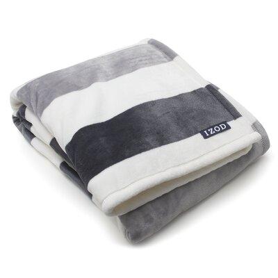 Brandon Plush Throw Color: Grey/White