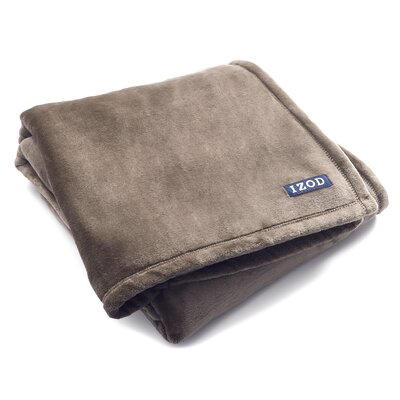 Brandon Plush Throw Color: Silver Mink