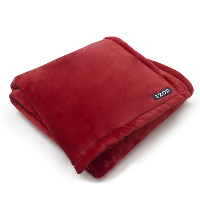 Brandon Plush Throw Color: Red