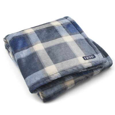 Brandon Plush Throw Color: Grey/Navy