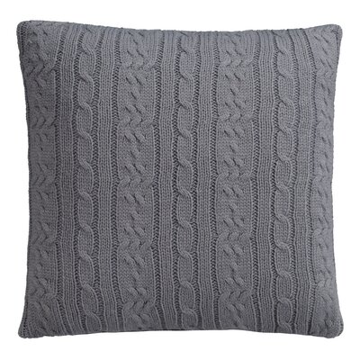 Cable Knit Decorative Throw Pillow Color: Quiet Shade