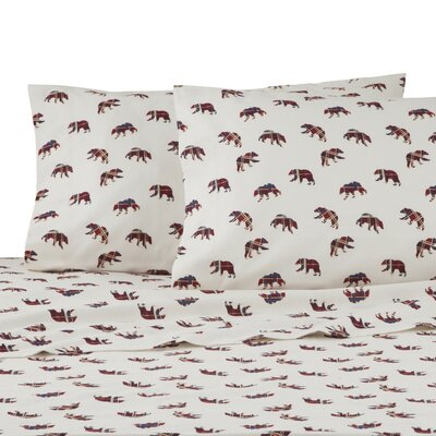 Mountain Bears 100% Cotton Sheet Set Size: Queen