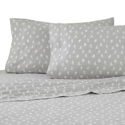 Skiiers 100% Cotton Sheet Set Size: Queen